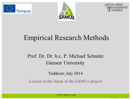 Empirical Research Methods