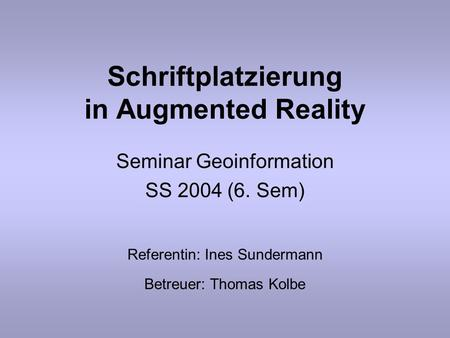 Schriftplatzierung in Augmented Reality