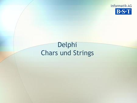 Delphi Chars und Strings