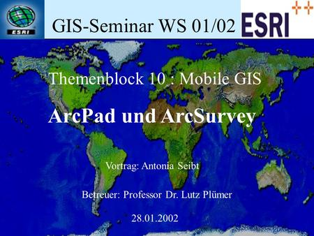 Themenblock 10 : Mobile GIS