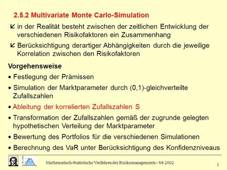 2.5.2 Multivariate Monte Carlo-Simulation