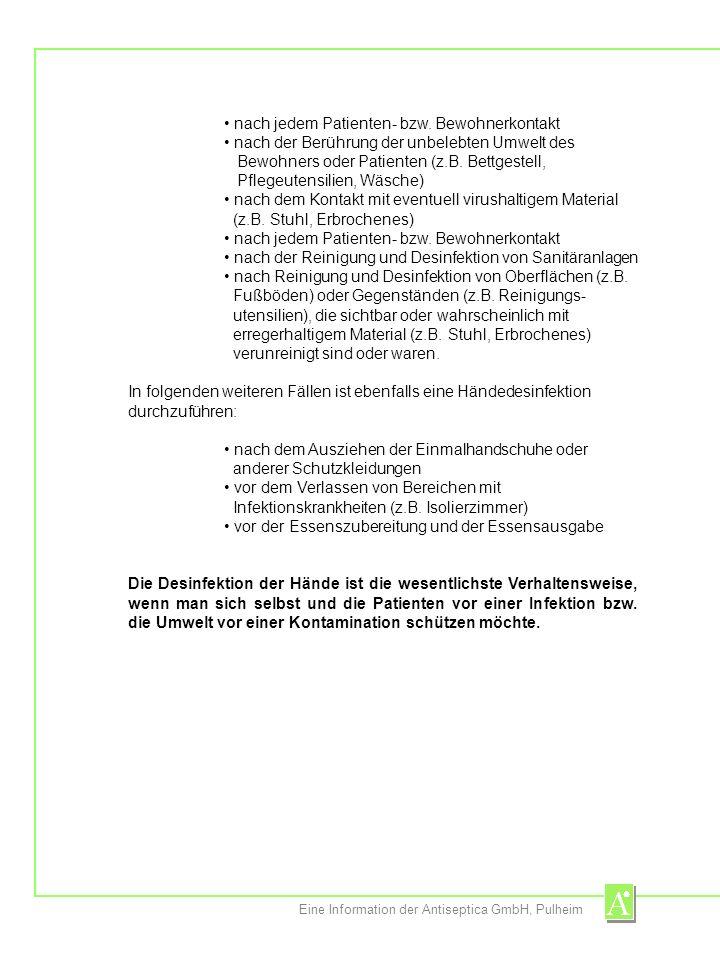 Eine Information der Antiseptica GmbH, Pulheim Manorapid ® Synergy Die revolutionäre Innovation: ein vollkommen neuer Wirkmechanismus erlaubt durch den Einsatz von Synergisten die Reduktion des Alkoholgehalts von bisher über 90% Ethanol auf 64% (54% Ethanol, 10% n-Propanol) unerreicht wirkungsvoll gegen unterschiedlichste Virusspezies – auch gegen besonders resistente Viren (bei Einwirkzeiten von 15 sec bis maximal 1 min) Flammpunkt: 22°C