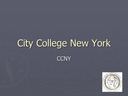 1 City College New York CCNY. 2Alexander Paul Technische Mathematik (10. Semester) Wintersemester 2000 in NYC.