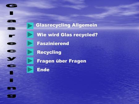 Glasrecycling Glasrecycling Allgemein Wie wird Glas recycled?