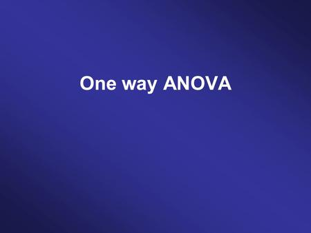 One way ANOVA. ParametricNon-parametric Between subjectsIndependent ANOVA Kruskal Wallis within subjectsRepeated measures ANOVA Friedman's ANOVA.
