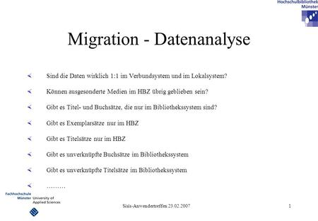 Migration - Datenanalyse