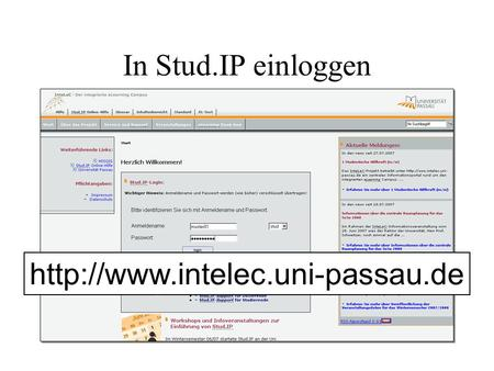 In Stud.IP einloggen