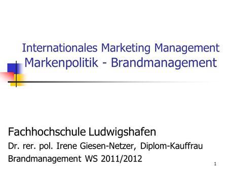 Marketing management psranatunga