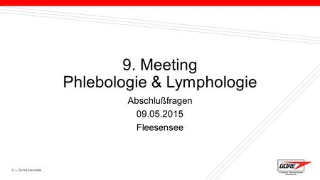 9. Meeting Phlebologie & Lymphologie