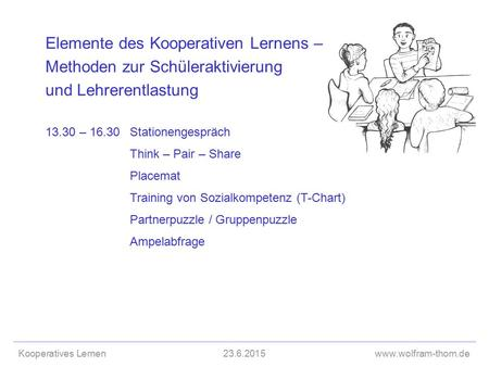 13.30 – 16.30 Stationengespräch Think – Pair – Share Placemat