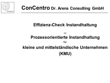 ConCentro Dr. Arens Consulting GmbH