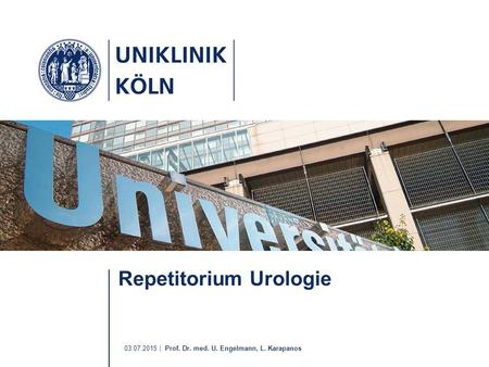 Repetitorium Urologie