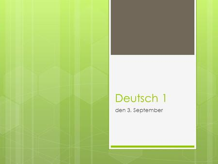 Deutsch 1 den 3. September. Textbook page 51  c – Writing shopping lists.