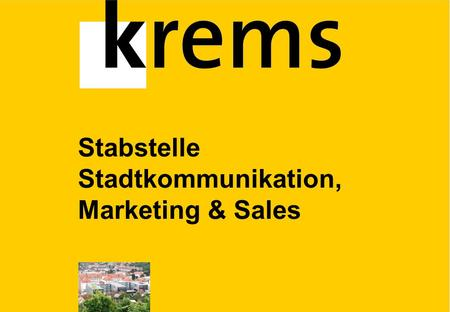 Stabstelle Stadtkommunikation, Marketing & Sales.