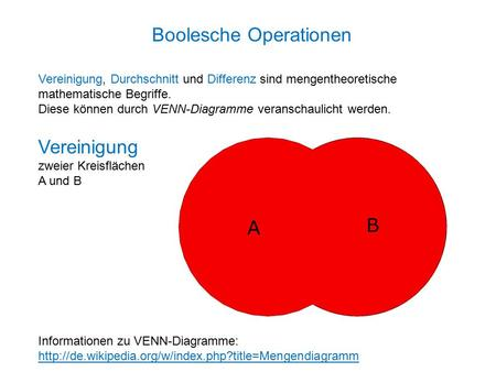 Boolesche Operationen