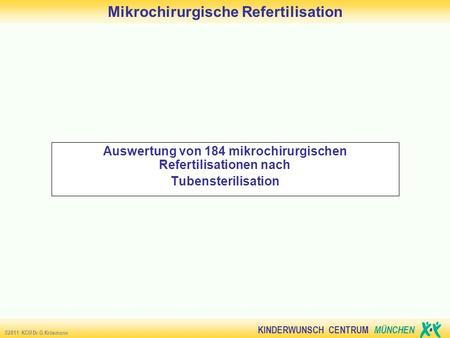 Mikrochirurgische Refertilisation