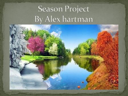 Season Project By Alex hartman