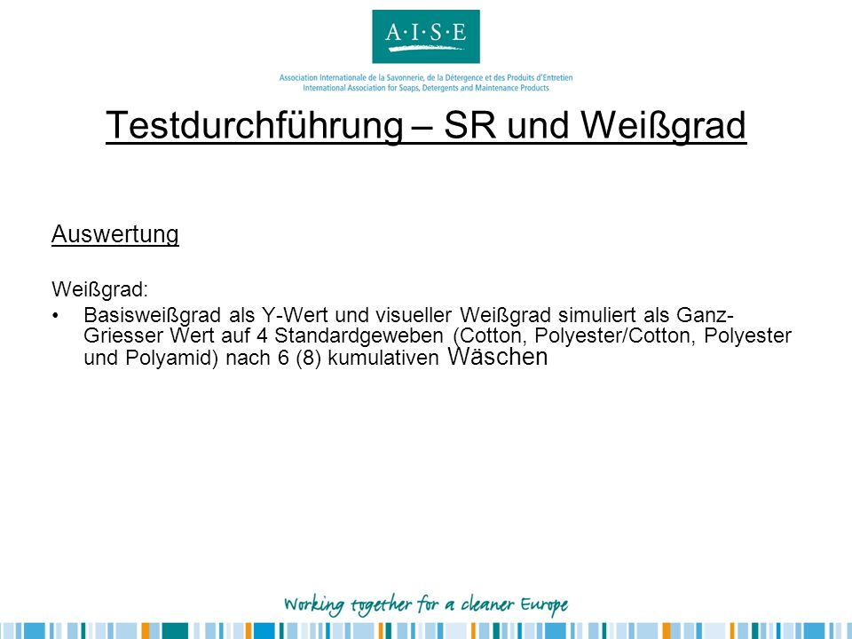 Testdurchführung – Farberhalt Farbige Textilien14-er A.I.S.E.
