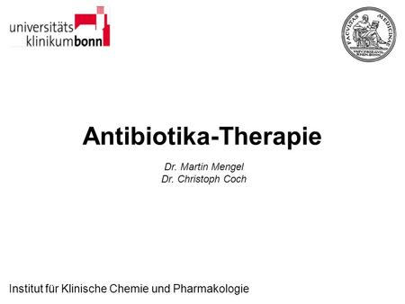 Antibiotika-Therapie