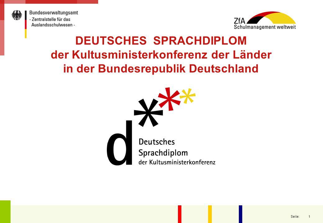 """2 Seite: La fundación de la KMK en 1948: Se creó a raíz de una """"Conferencia de Ministros de Educación alemanes , que tuvo lugar en Stuttgart, el 19 y 20 de febrero de 1948 con la participación de los representantes de todas las Zonas de ocupación de ese momento tras la finalización de la Segunda Guerra Mundial."""
