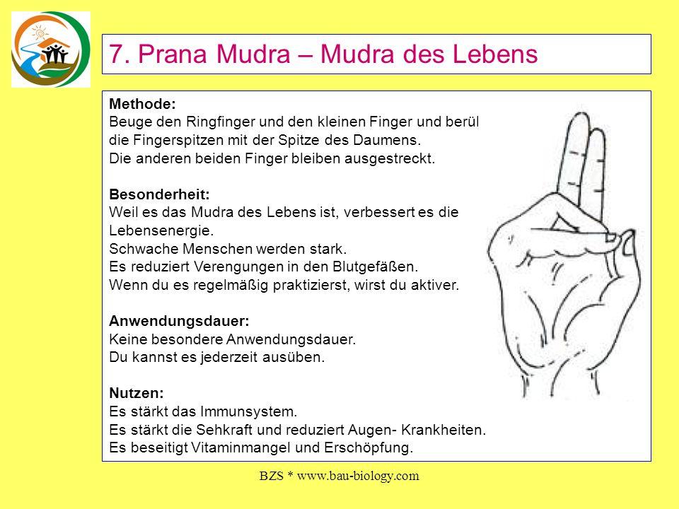 BZS * www.bau-biology.com Methode: Die Spitzen von Mittelfinger, Ringfinger und Daumen berühren sich, während die anderen beiden Finger ausgestreckt bleiben.
