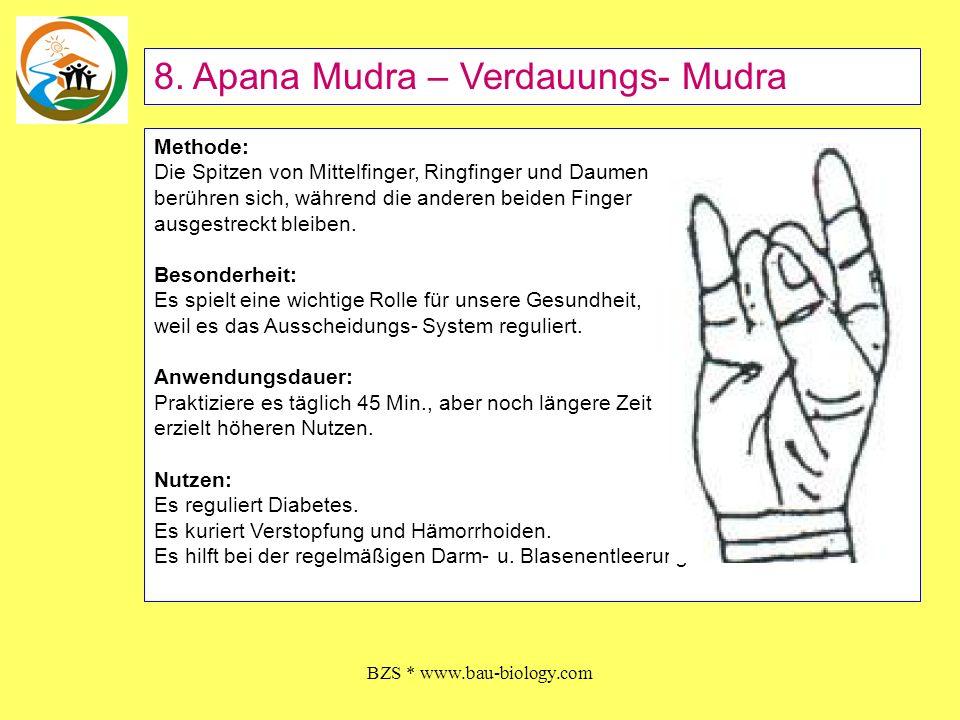 BZS * www.bau-biology.com Methode: Beuge den Zeigefinger zum Daumenballen.