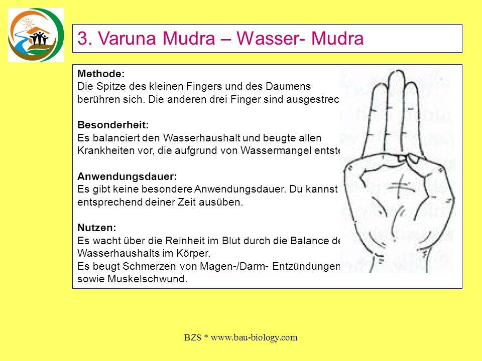 BZS * www.bau-biology.com Nutzen: Beuge den Zeigefinger zum Daumenballen und drücke ihn mit dem Daumen herunter.