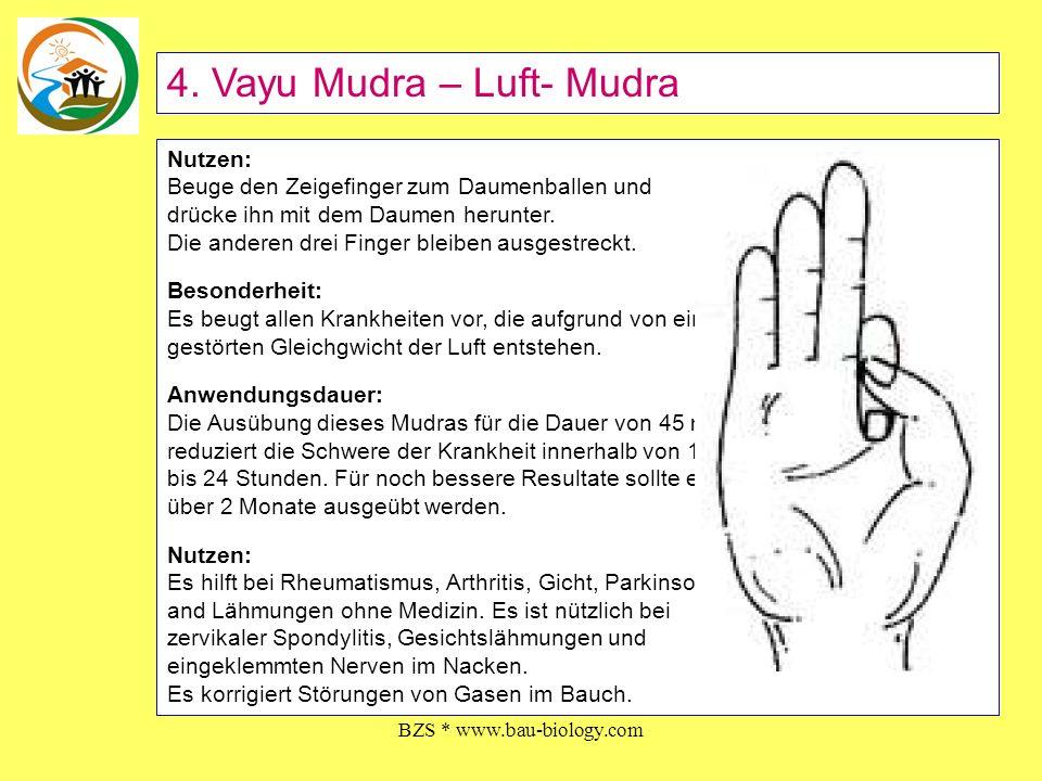 BZS * www.bau-biology.com Methode: Beuge den Mittelfinger zum Daumenballen und drücke ihn mit dem Daumen herunter.