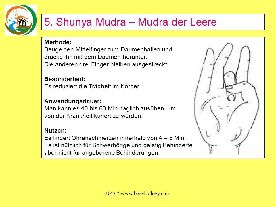 BZS * www.bau-biology.com Methode: Beuge den Ringfinger und drücke ihn mit dem Daumen Nach unten.
