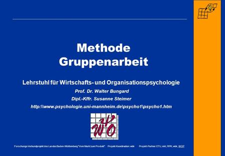 Methode Gruppenarbeit