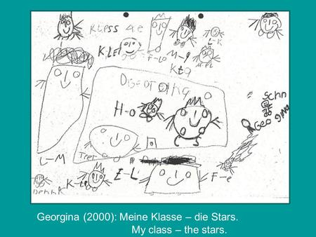 Georgina (2000): Meine Klasse – die Stars. My class – the stars.