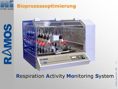 S. 1 © HiTec Zang GmbH - HRE Respiration Activity Monitoring System Bioprozessoptimierung.