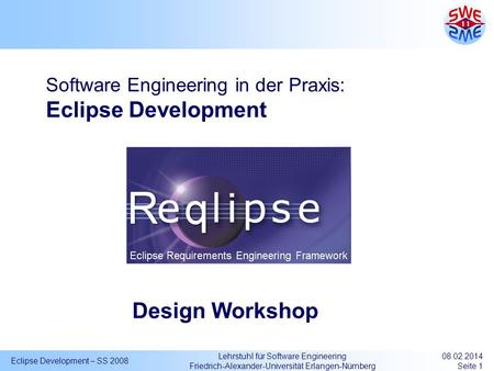 Software Engineering in der Praxis: Eclipse Development