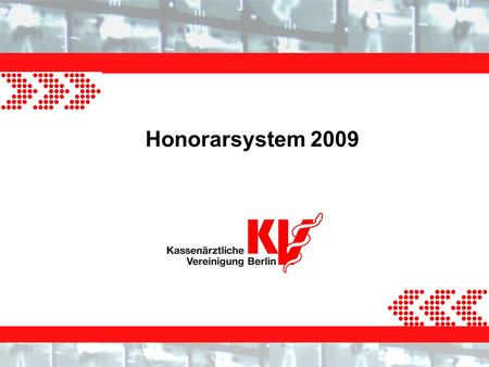 Honorarsystem 2009.