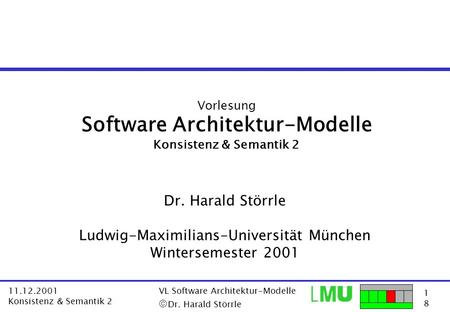 Software Architektur-Modelle