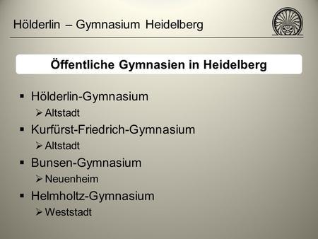 bunsen gymnasium heidelberg intranet
