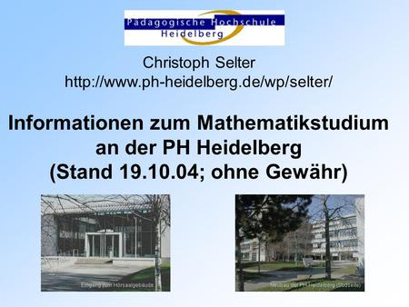 Informationen zum Mathematikstudium