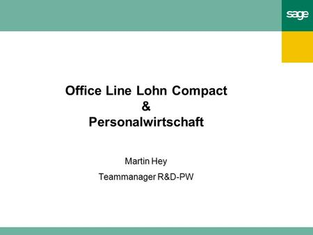 Office Line Lohn Compact & Personalwirtschaft Martin Hey Teammanager R&D-PW.