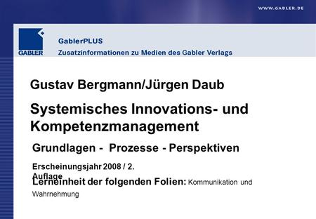 Systemisches Innovations- und Kompetenzmanagement