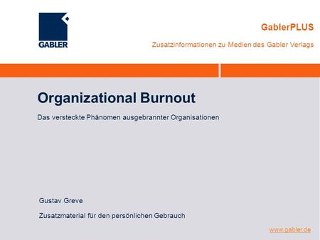 Organizational Burnout