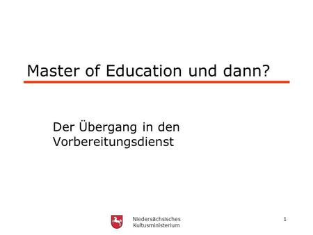 Master of Education und dann?