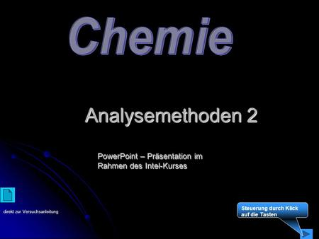 Analysemethoden 2 Chemie