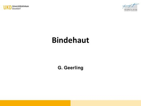 Bindehaut G. Geerling.