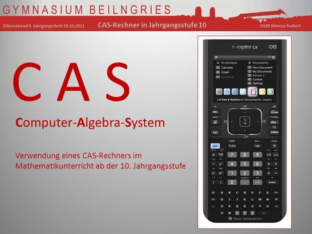 C A S Computer-Algebra-System