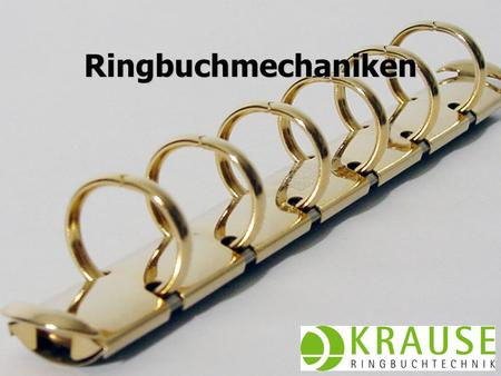 Ringbuchmechaniken Juni 2009 KRAUSE AG.