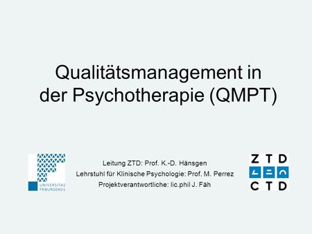 Qualitätsmanagement in der Psychotherapie (QMPT)