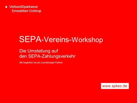 SEPA-Vereins-Workshop