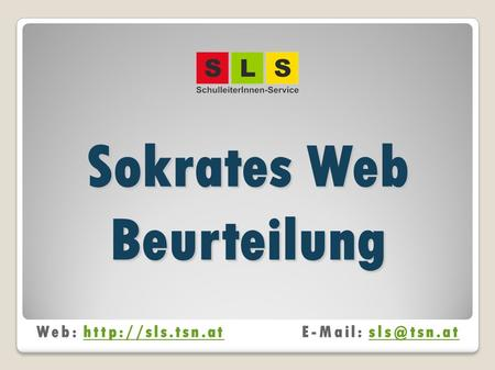 Sokrates Web Beurteilung Web: