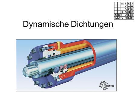 Dynamische dichtungen