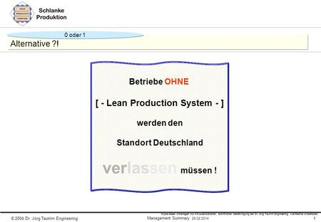 [ - Lean Production System - ]